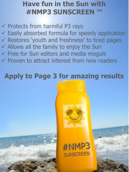 Have fun in the Sun with NMP3 Sunscreen - we are unfinished