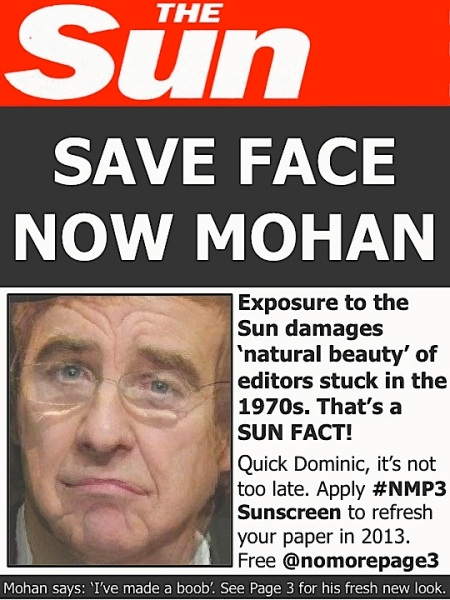 Save face now Mohan - we are unfinished
